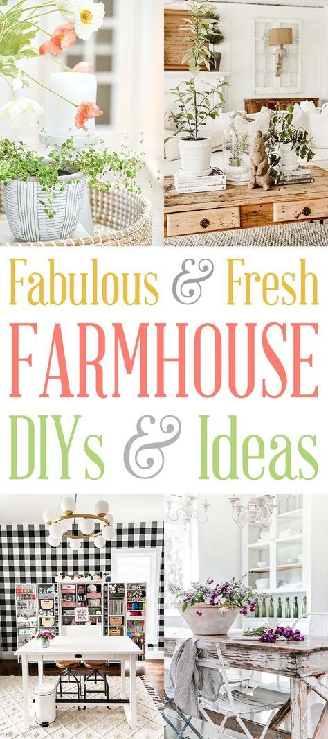 Fabulous and Fresh Farmhouse DIYS and Ideas Come and check out some of the newest and fresh ideas in the wonderful world of Farmhouse DIYS & Ideas this week!  New DIYS... Home Decor Decorating Ideas... Instagram Recommendations and so much more!  Join us and enjoy!  #Farmhouse #FarmhouseDIY #DIYFarmhouse #FarmhouseDIYSandIdeas #HomeDecor #FarmhouseHomeDecor