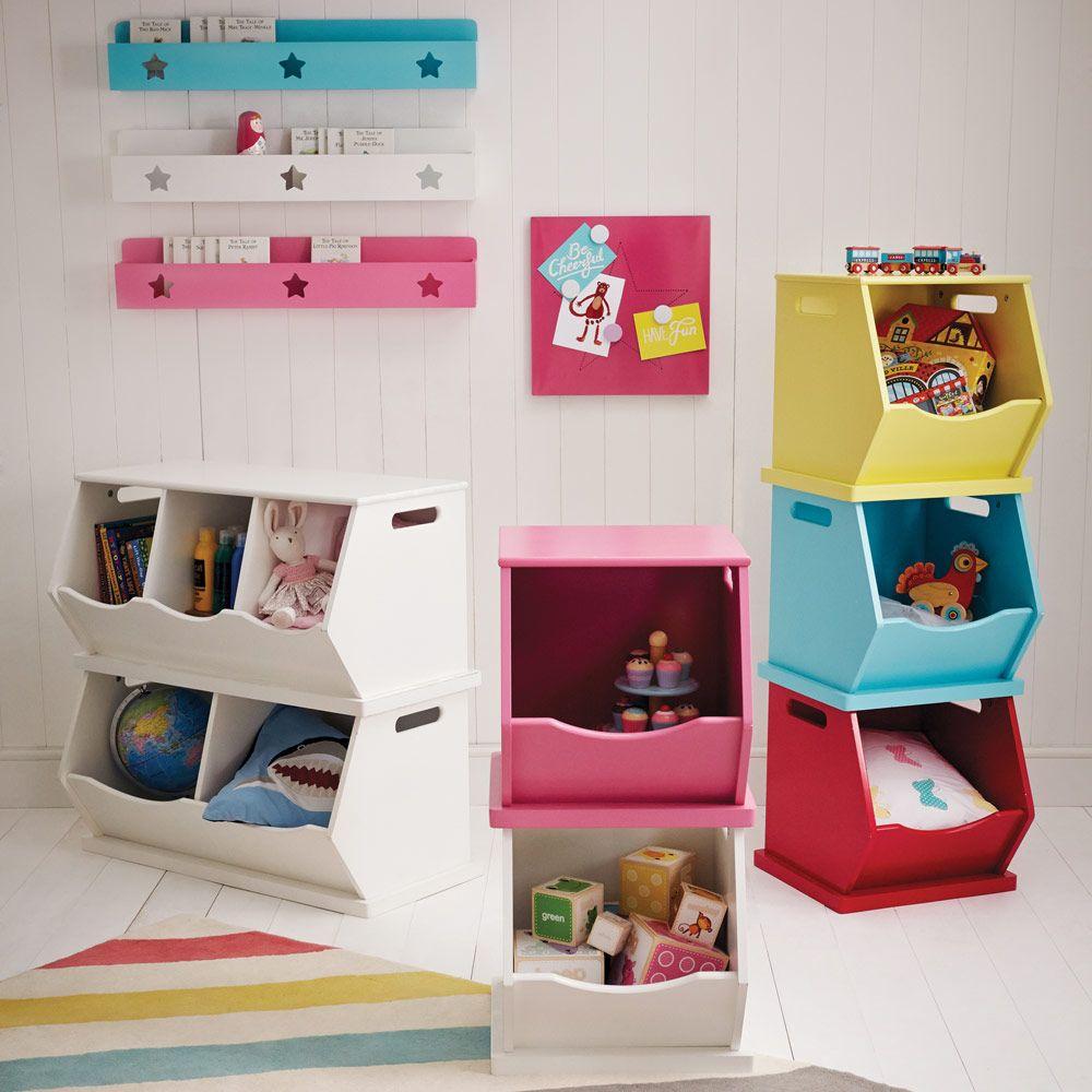 Kids Storage Cube Organizer Toy Box Kids Bedroom Furniture: Single Stacking Storage Trunk