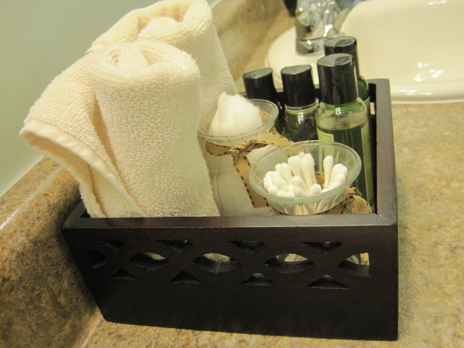 Perfect Toiletries For Guest Bathroom In Small Basket (We Bring Home The Hotel  Shampoo, Sewing