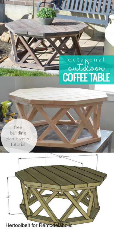 How To Build An Outdoor Octagon Coffee Table With Lattice Legs Wood Projects Plans Woodworking Furniture Plans Wood Diy