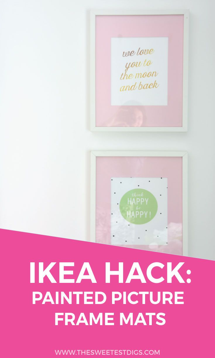 IKEA Hack: Painted Ribba Picture Frame Mats | DIY, Crafts & Neato ...