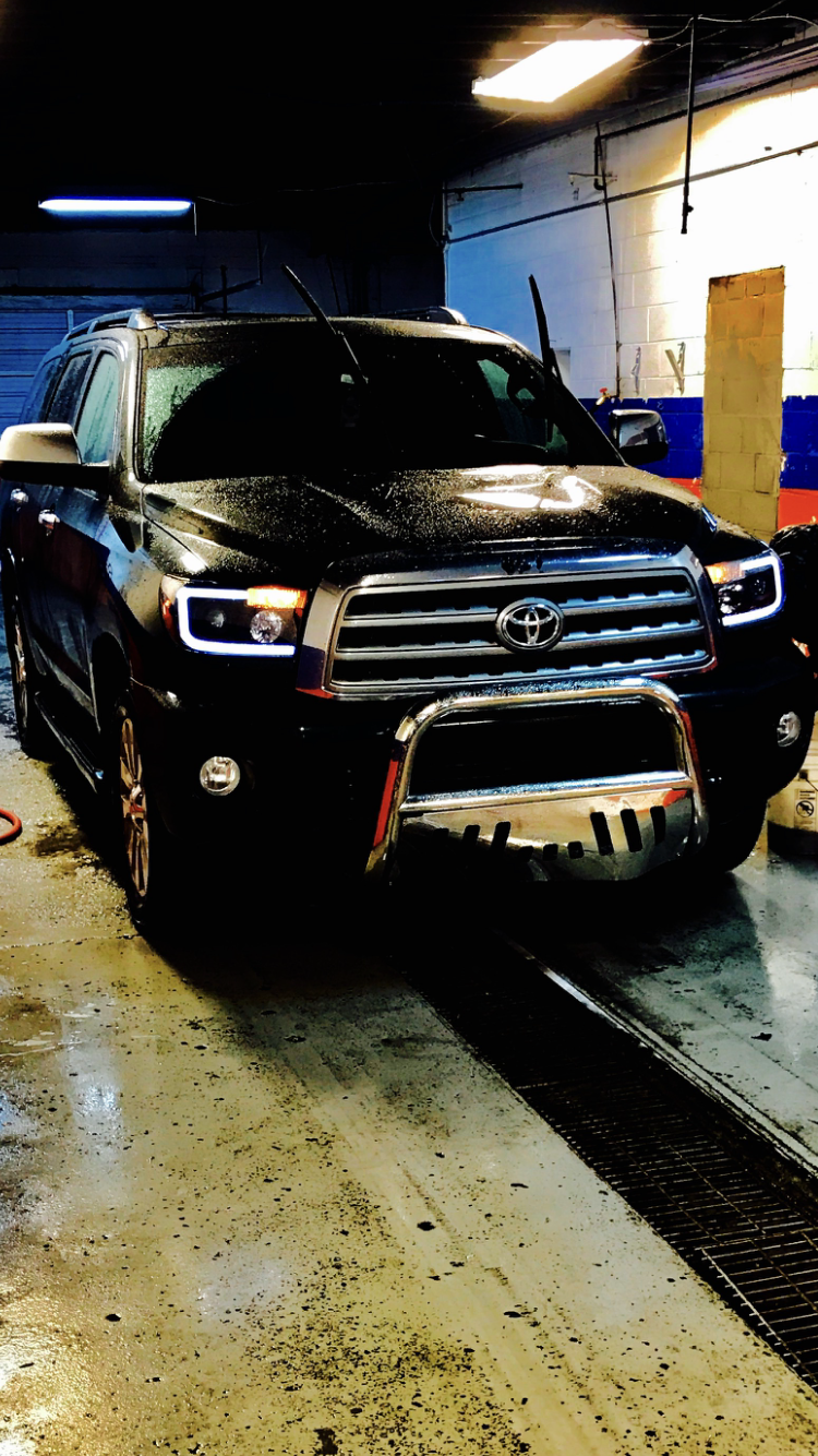 Toyota Sequoia plantinum led bar headlights and grill guard