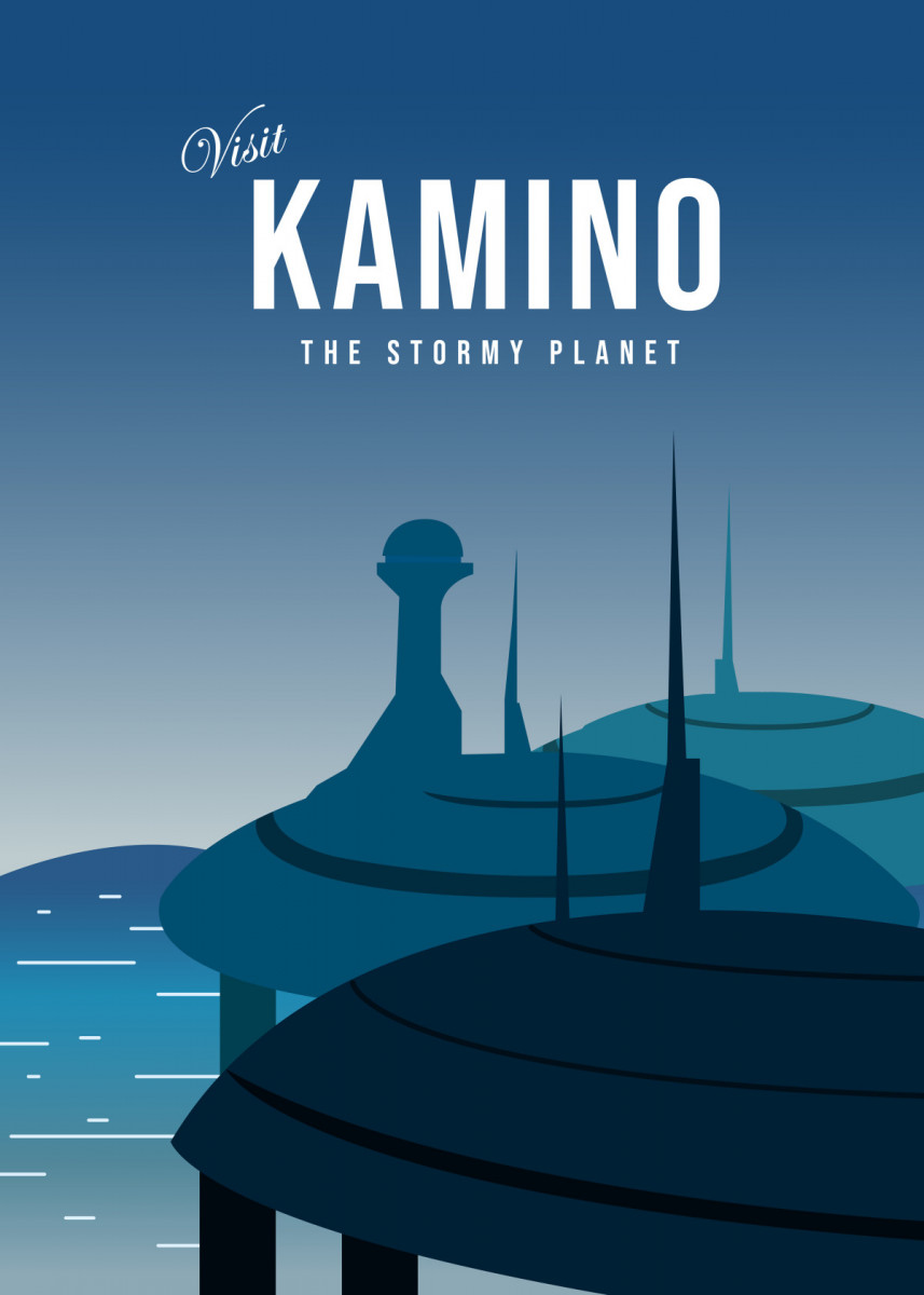 Star Wars planets Minimalist illustration posters
