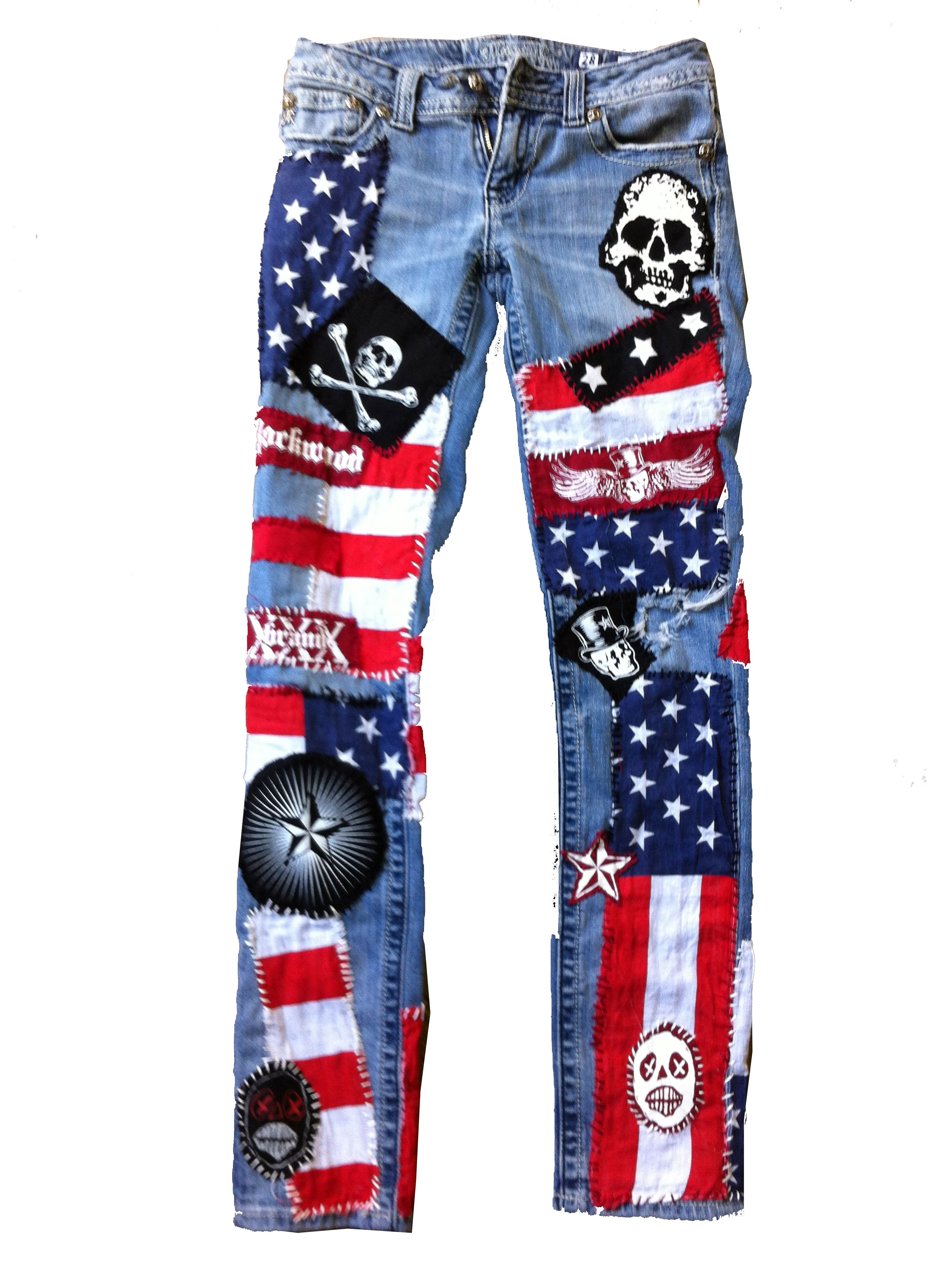 7bbdde9333f American Flag Jeans for women