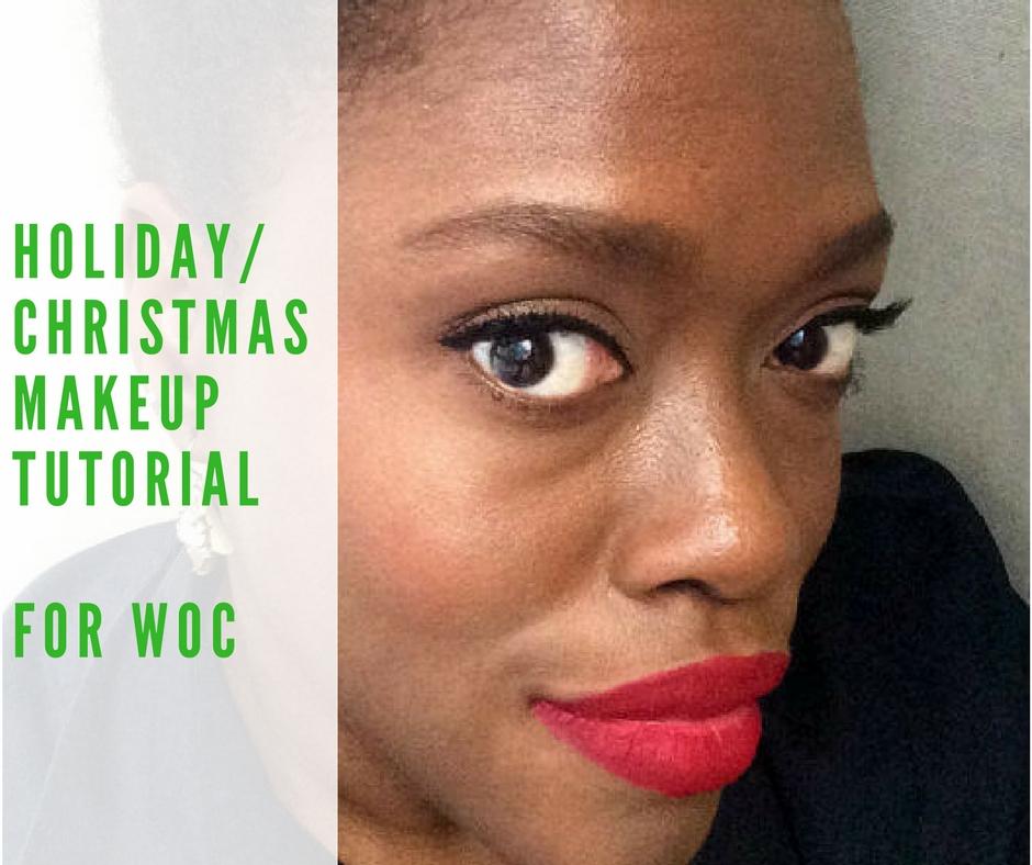 Holiday makeup look: Bold red lips on dark skin #lipsdark