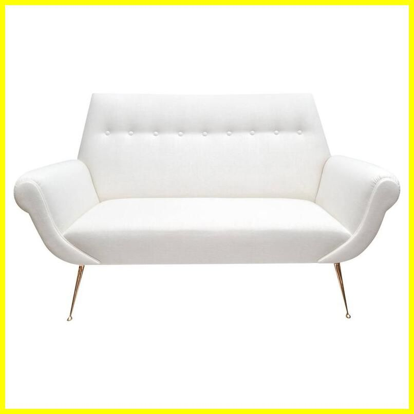 Fitzgerald Mid Century Modern White Leather Loveseat Mid Century Leather Sofa White Leather Sofas Love Seat