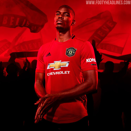 Manchester United 19 20 Home Kit Released Footy Headlines Winner Shirts Manchester United Soccer Jersey