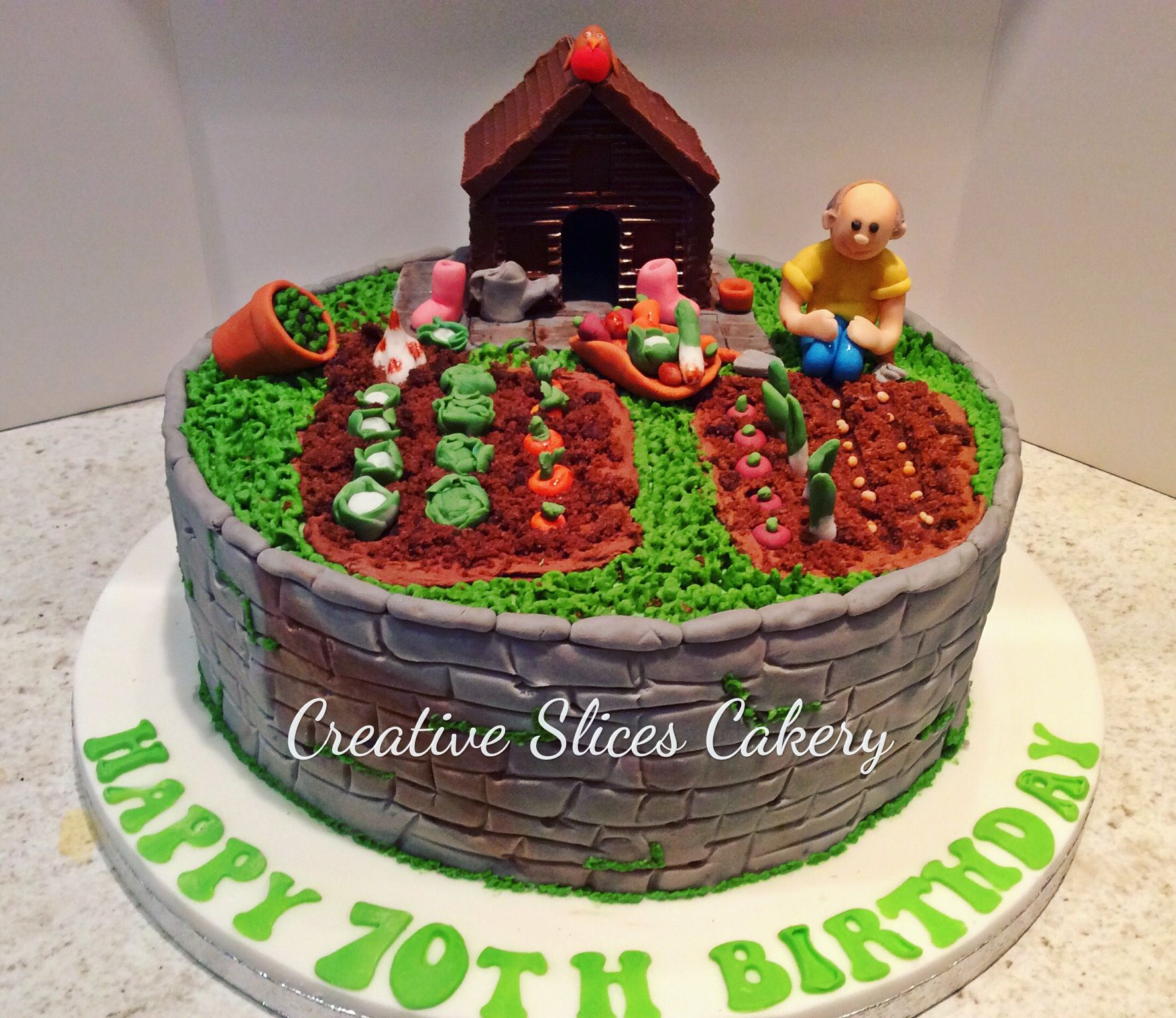 Loved making this allotment cake x
