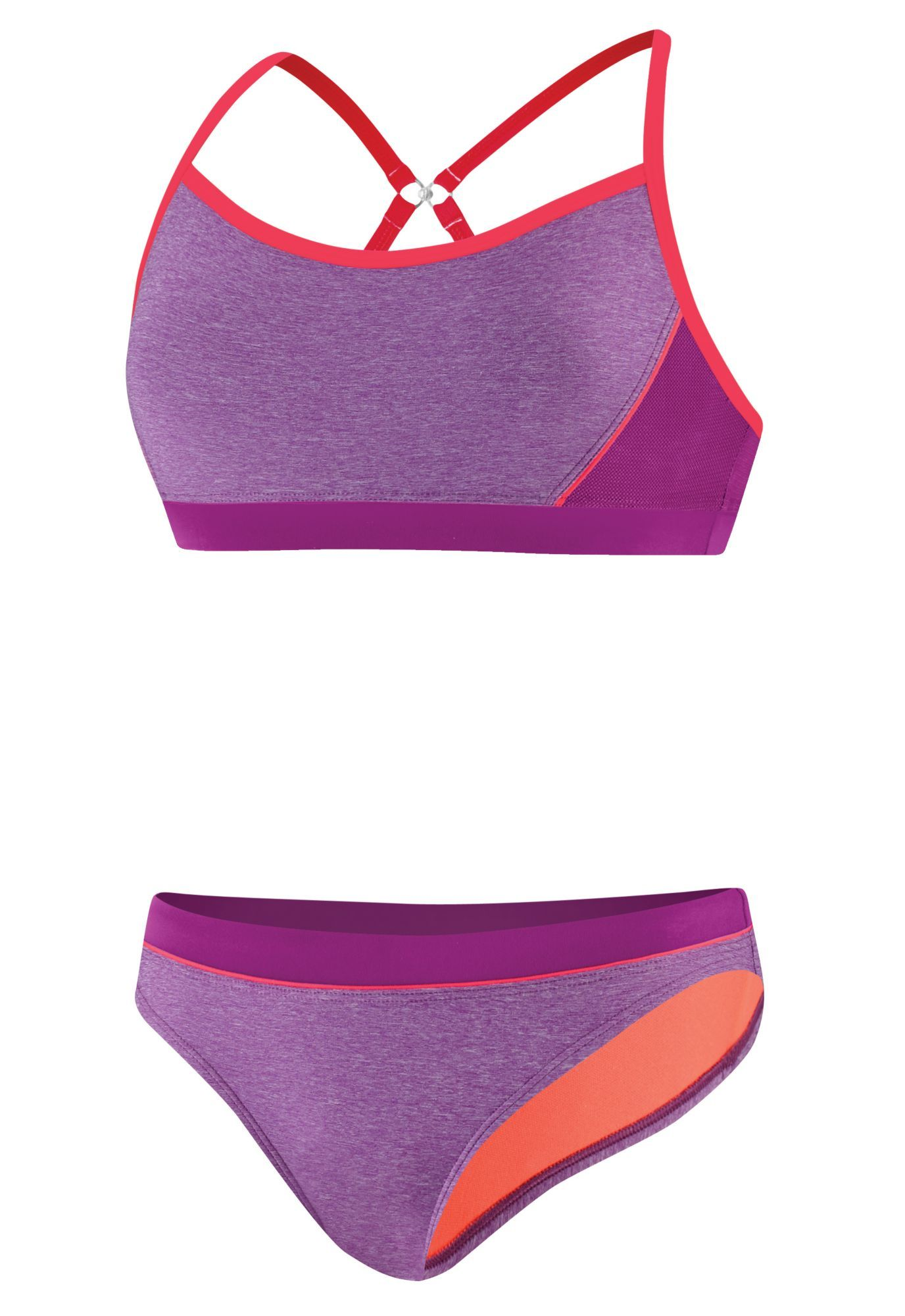03c373e0 Speedo Women's Heathered Splice Clipback 2-Piece Swimsuit | Products ...