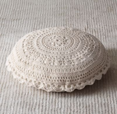 Rh Floor Pillows : Crocheted Floor Pillow Floor Pillows Restoration Hardware Baby & Child Woo! They DO offer it ...