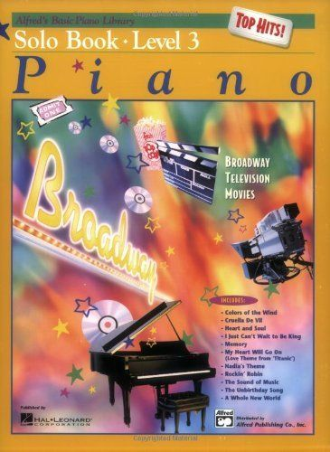 Alfred S Basic Piano Library Top Hits Solo Level 3 By E L