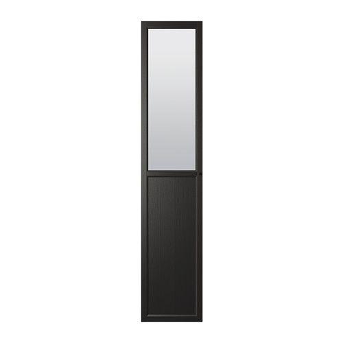 IKEA OXBERG Black-Brown Panel/glass door | For the home