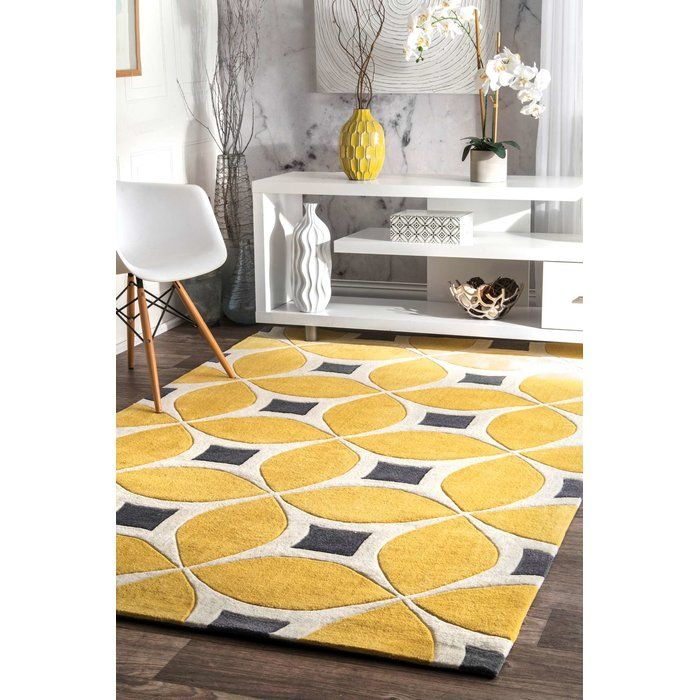 Sorrento Geometric Handmade Tufted Yellow Area Rug With Images