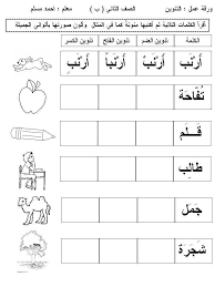 Image Result For اوراق عمل عن التنوين Arabic Worksheets Arabic Kids Arabic Alphabet
