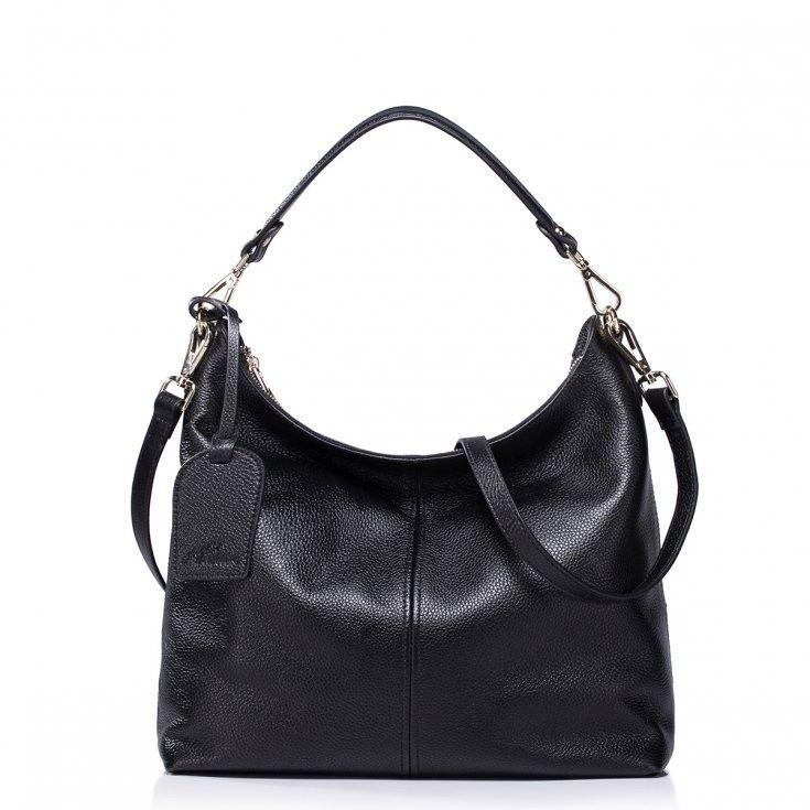 Nucelle Torebka Ze Skory Naturalnej Czarna Klasyk 4863364581 Oficjalne Archiwum Allegro Black Leather Handbags Crossbody Bag Rebecca Minkoff Hobo