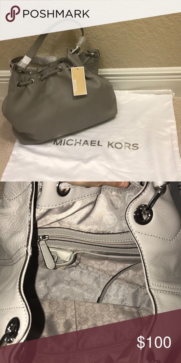 17d5f225acabe3 Michael Kors Camden BRAND NEW!! Michael Kors stylish grey leather tote.  still with original packaging and tags! MICHAEL Michael Kors Bags Totes