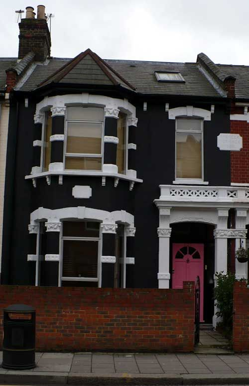 Look At Europe London Painting The House Black Black House Exterior White Exterior Houses Black House