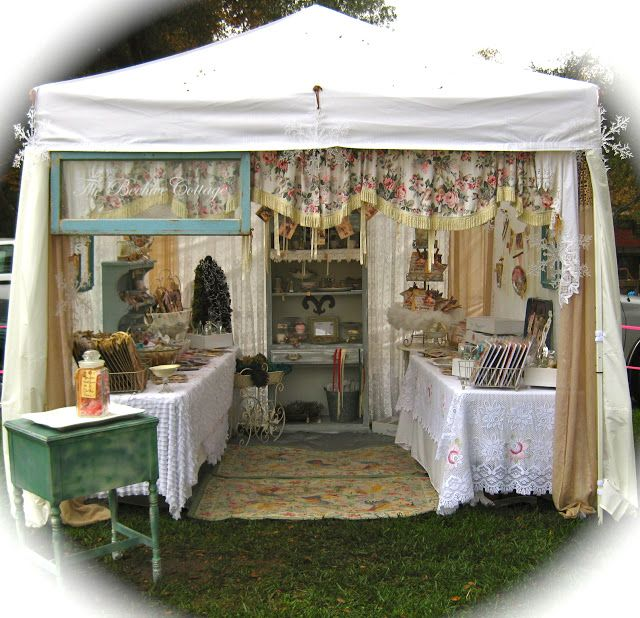 Pretty outdoor setup the beehive cottage craft show for Retail store setup ideas
