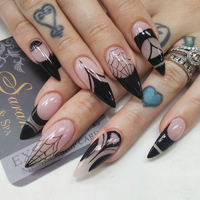 Halloween Nail Art Designs Gallery: Stiletto Halloween Nails @KortenStEiN