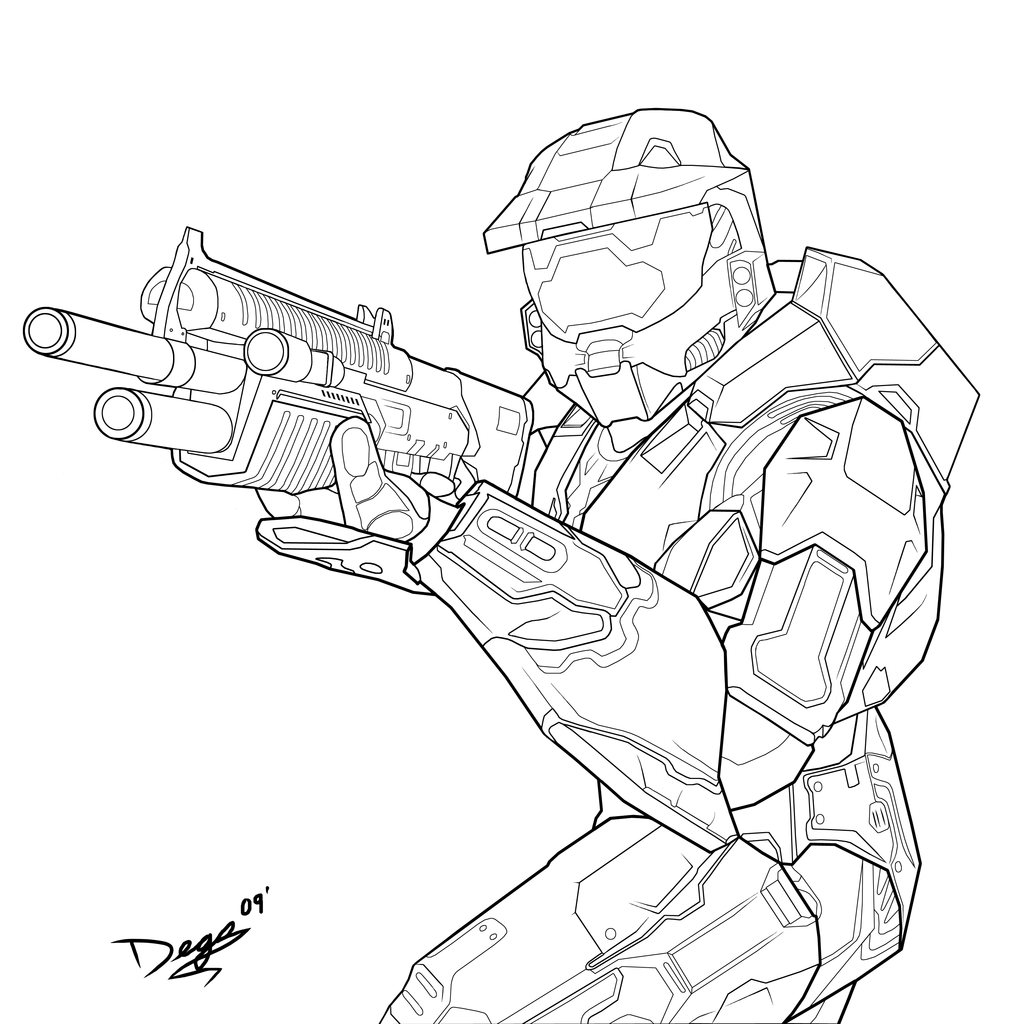 halo 4 character coloring pages list | Pin de Erica Schlichte en Improving my Art | Halo dibujo ...