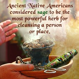 Burning sage to cleanse negative energy from your home Cleansing bad energy from home