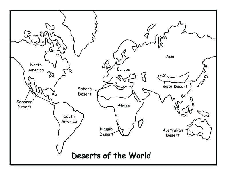 Map Of The World Coloring Page In 2020 World Map Coloring Page
