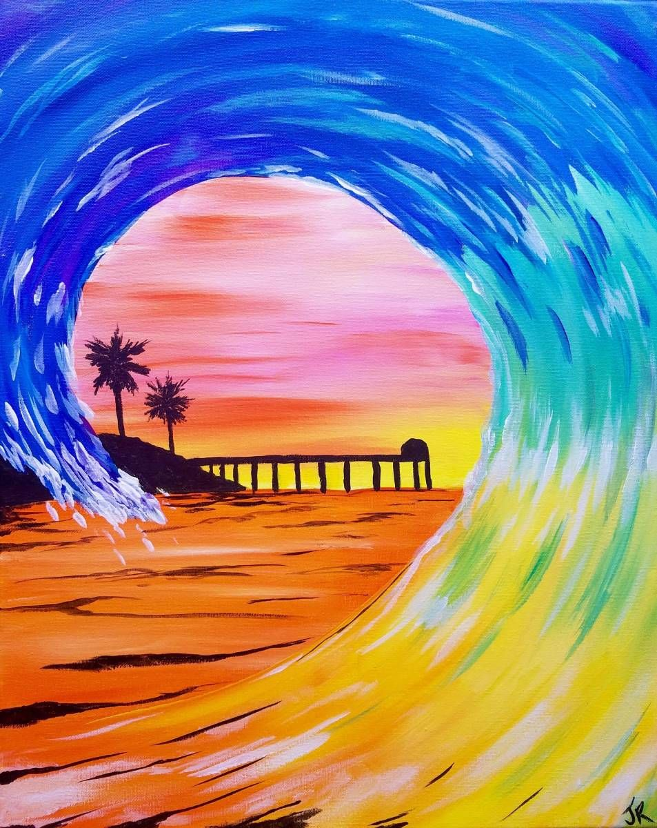 Surfing San Diego Painting Art Projects Surfboard Painting
