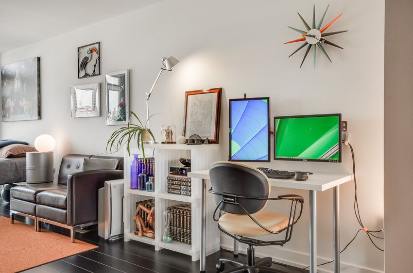 My Almost 400 Sq Ft Apartment Office Workspace Home Work Space