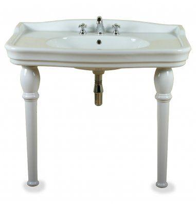 Albion bath company ethos console wastafel klassieke brede wastafel op keramische poten - Wastafel console ...