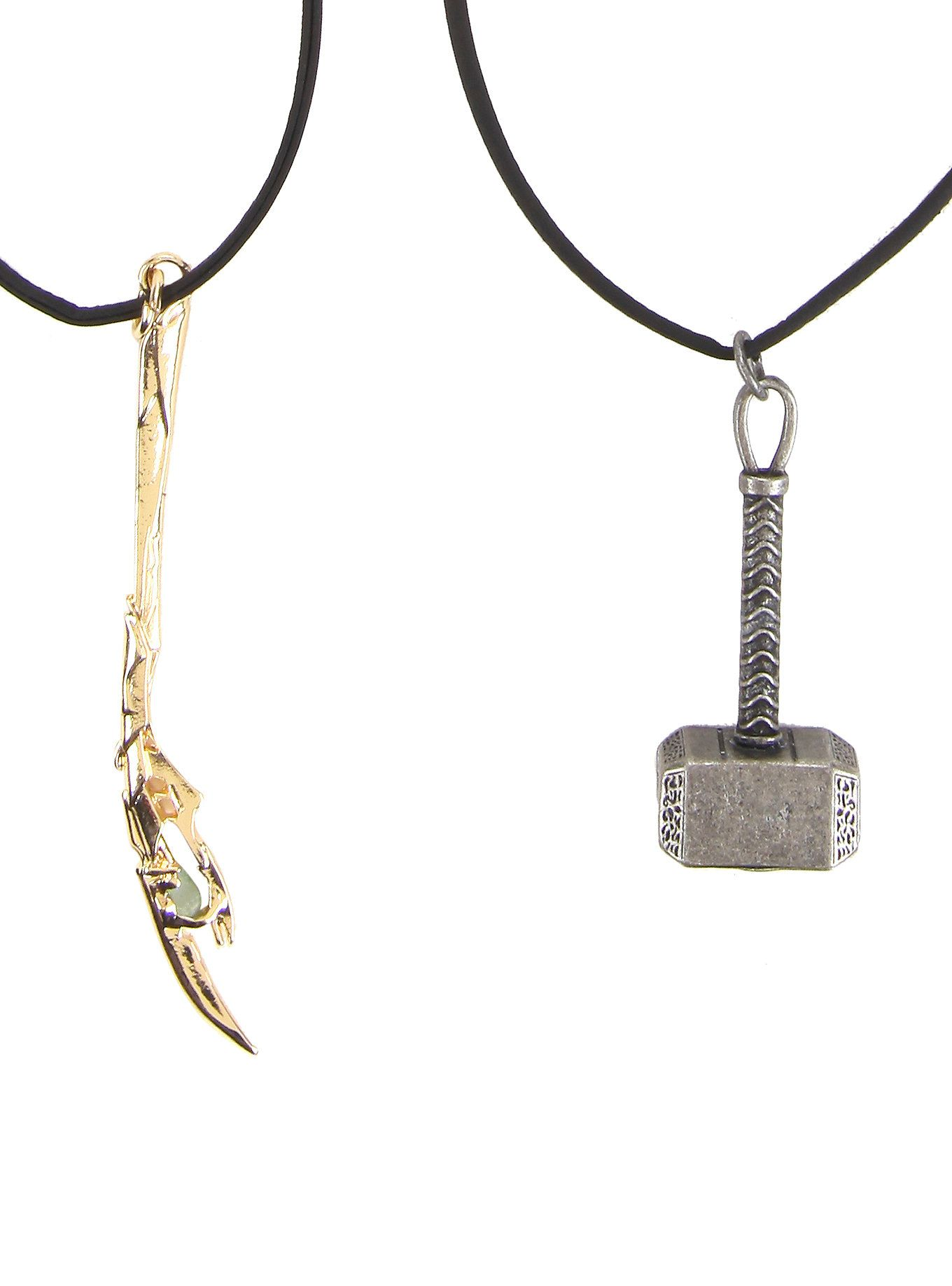black cord necklace set from marvel s with thor