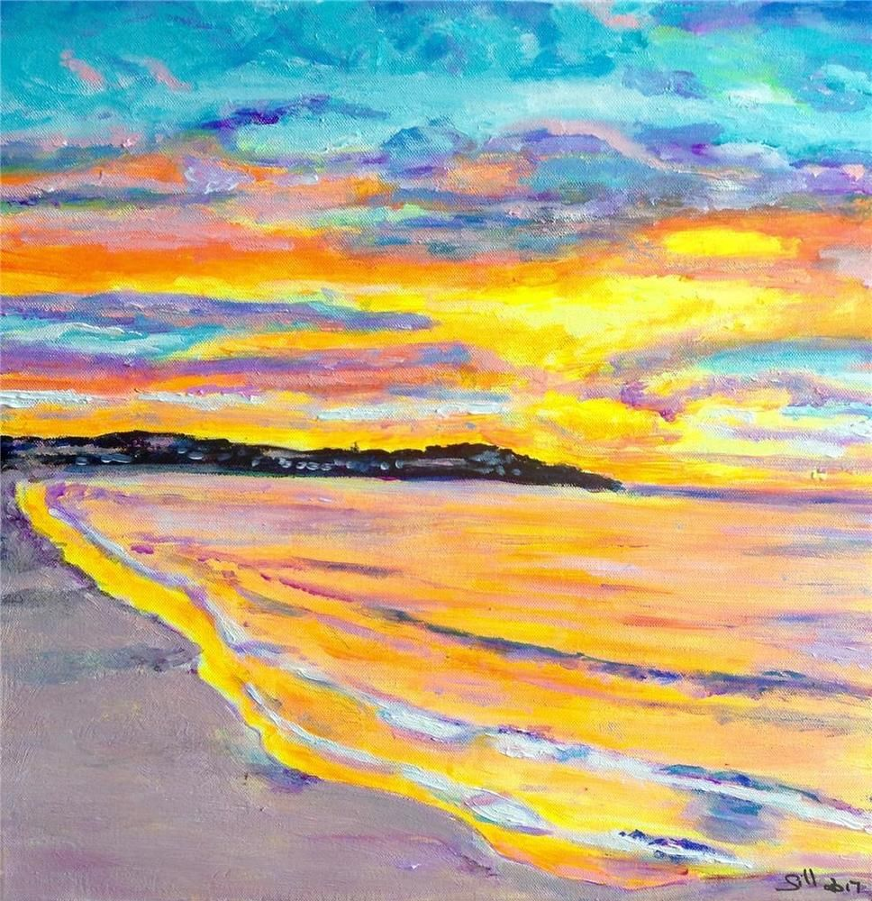 Bondi Sunset #Abstract | art | Pinterest | Sunset and Paintings