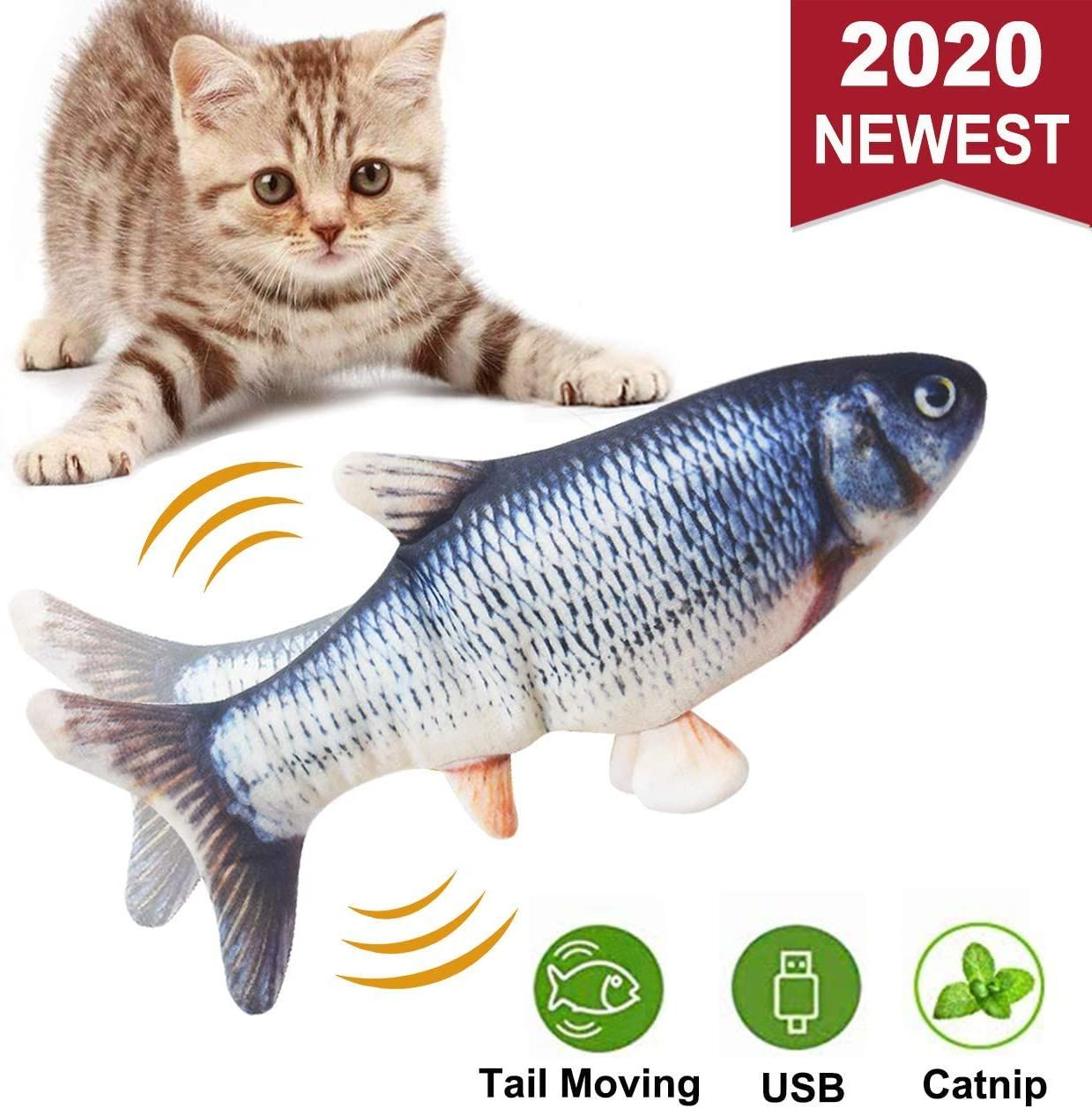 Electric Dancing Catnip Fish Toys for Cats in 2020