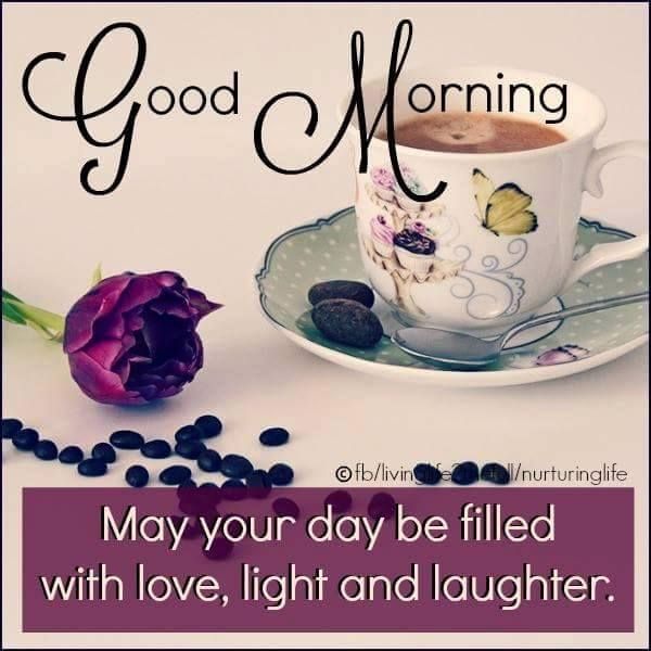 Good Morning May Your Day Be Filled With Love Light And Laughter Goodmorning Good Morning Meme Good Morning Coffee Good Morning Inspiration