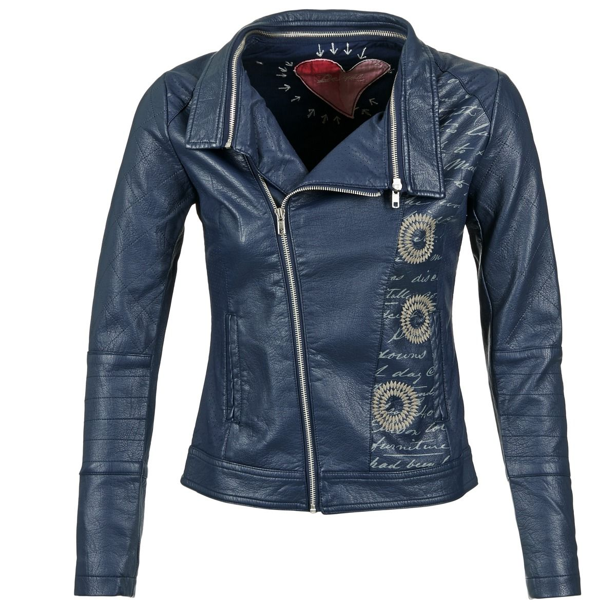 veste blazer desigual nifade marine prix promo blouson femme spartoo blousons. Black Bedroom Furniture Sets. Home Design Ideas