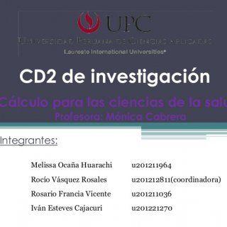 CD2 de investigaciónCálculo para las ciencias de la salud Profesora: Mónica CabreraIntegrantes: Melissa Ocaña Huarachi u201211964 Rocío Vásquez Rosales u201. http://slidehot.com/resources/cd2-de-investigacion-funciones.10644/