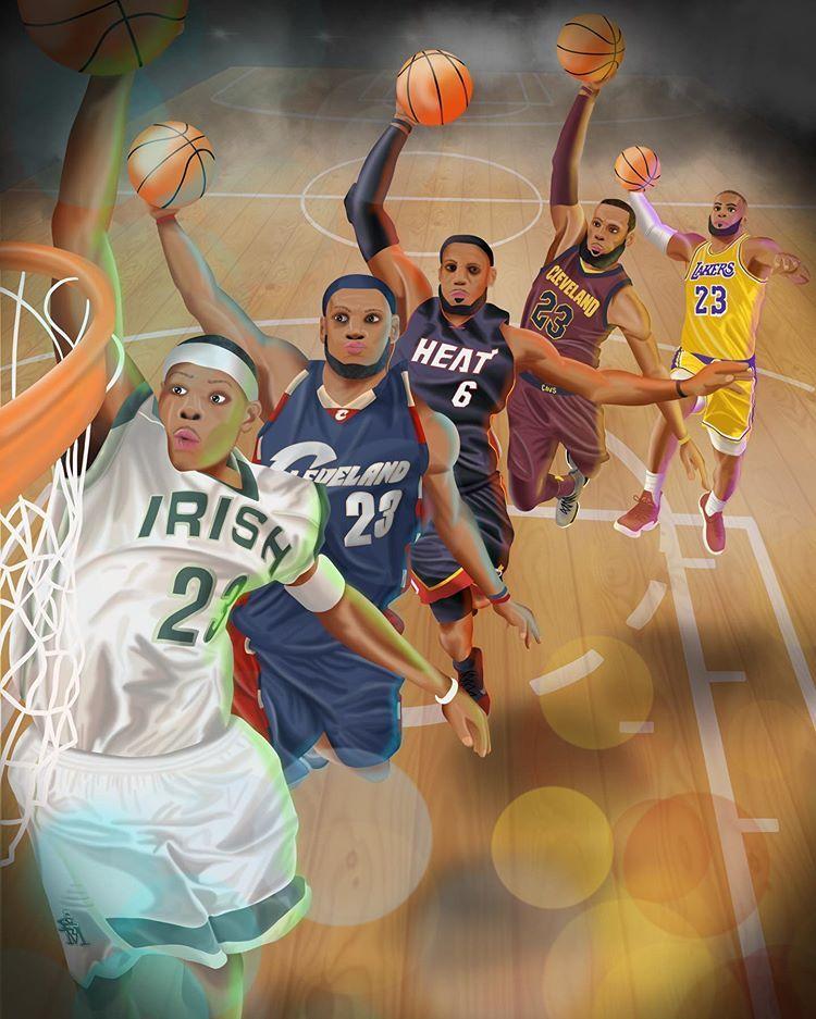 Pin By Lamont Streater On Bad Boys 2019 Lebron James Heat Lebron James Lakers Basketball Players Nba