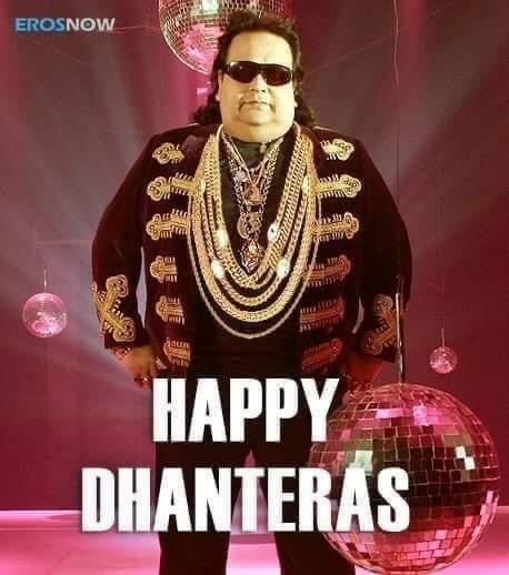 Rishi Kapoor wishes 'Happy Dhanteras' with Bappi Lahiri pic #dhanteraswishes