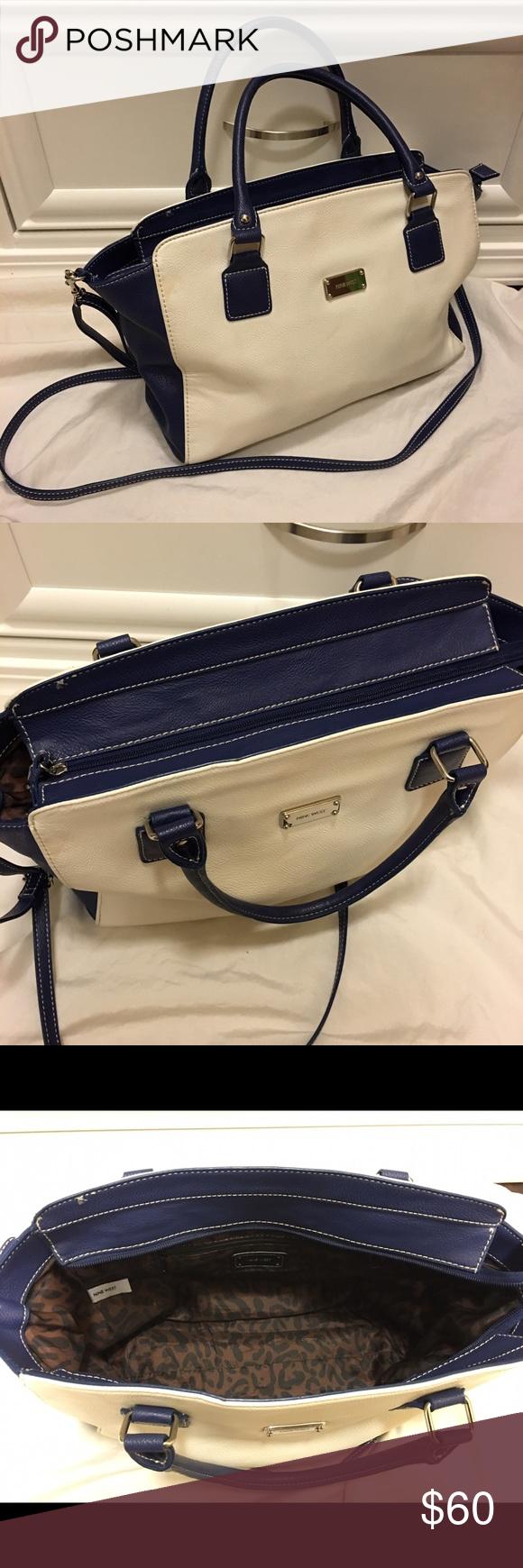 Nine West Crossbody & Shoulder Bag •Slightly Used •Some cleaning needed on the back Nine West Bags Satchels