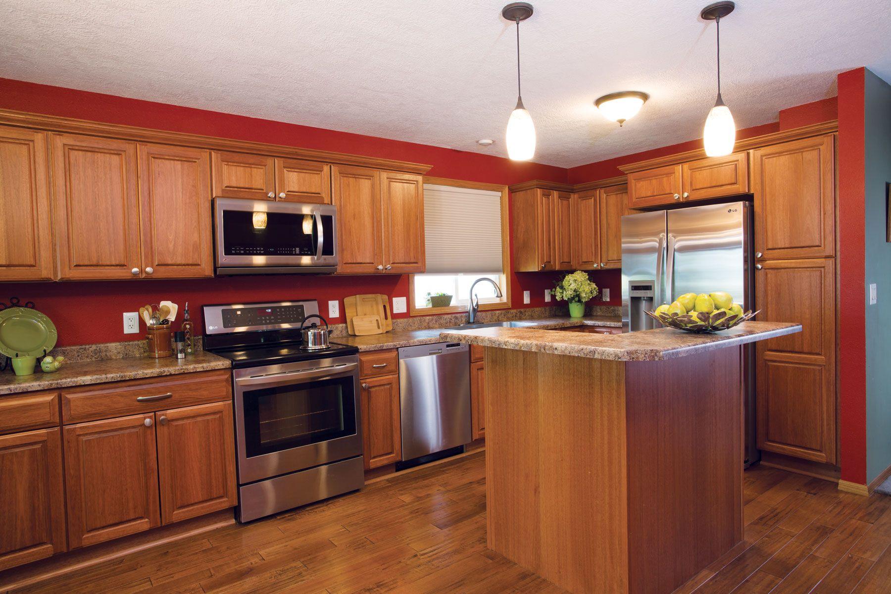 A kitchen in Hartford, South Dakota, was transformed with ...