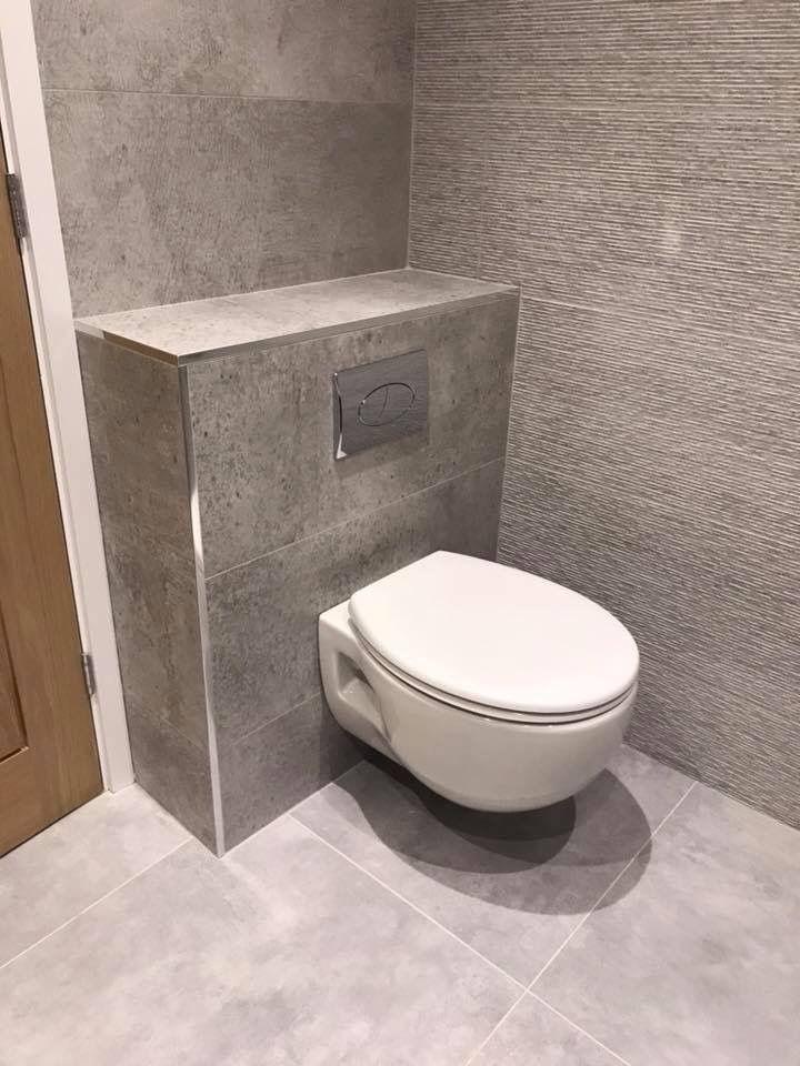 Grey bathroom tiles - Porcelanosa Parc Gris/Parc lineal Gris ...