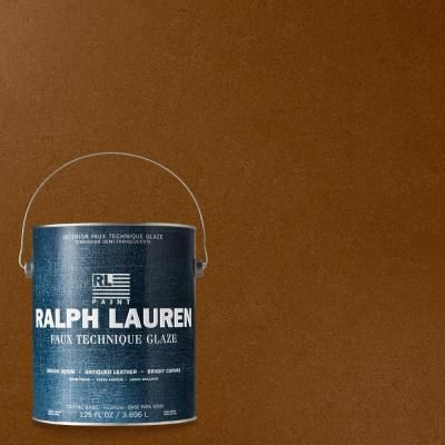 Ralph Lauren 1 Gal Natural Khaki Antique Leather Specialty Finish Interior Paint Al02 The Home Depot Ralph Lauren Paint Navy Blue Paint Faux Finish Painting