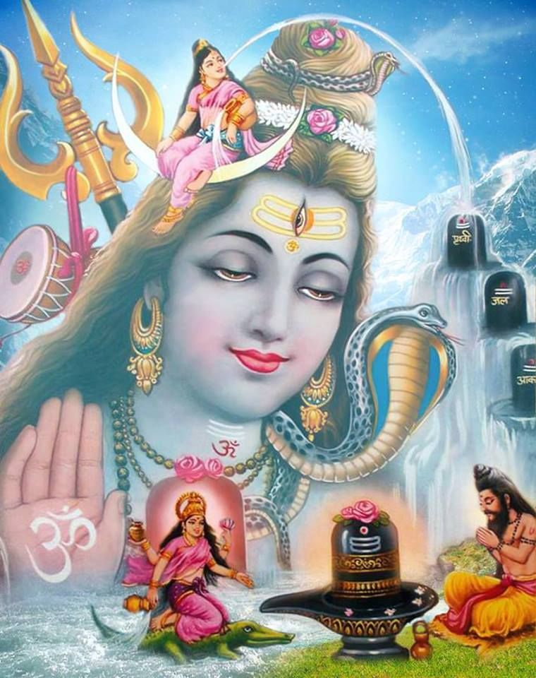 Shiva with Ganga | Shiva, Hindu gods, Lord shiva