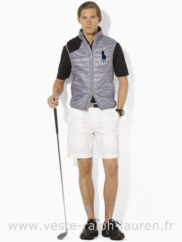 51cfa6edcc45f Polo officiel - Ralph Lauren 2013 veste sans manches populaire hommes big  polo star gris Doudoune