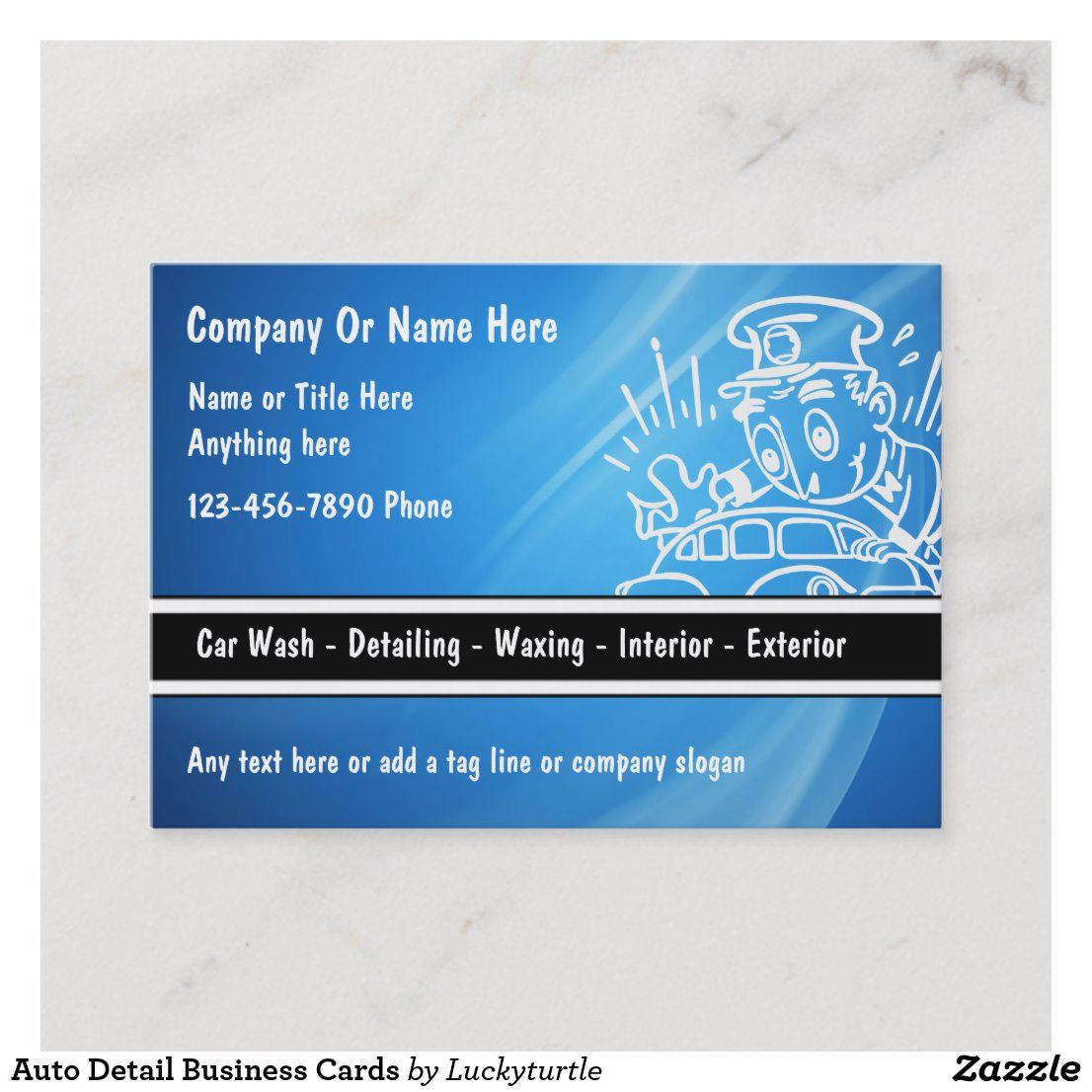 Auto detail business cards with images