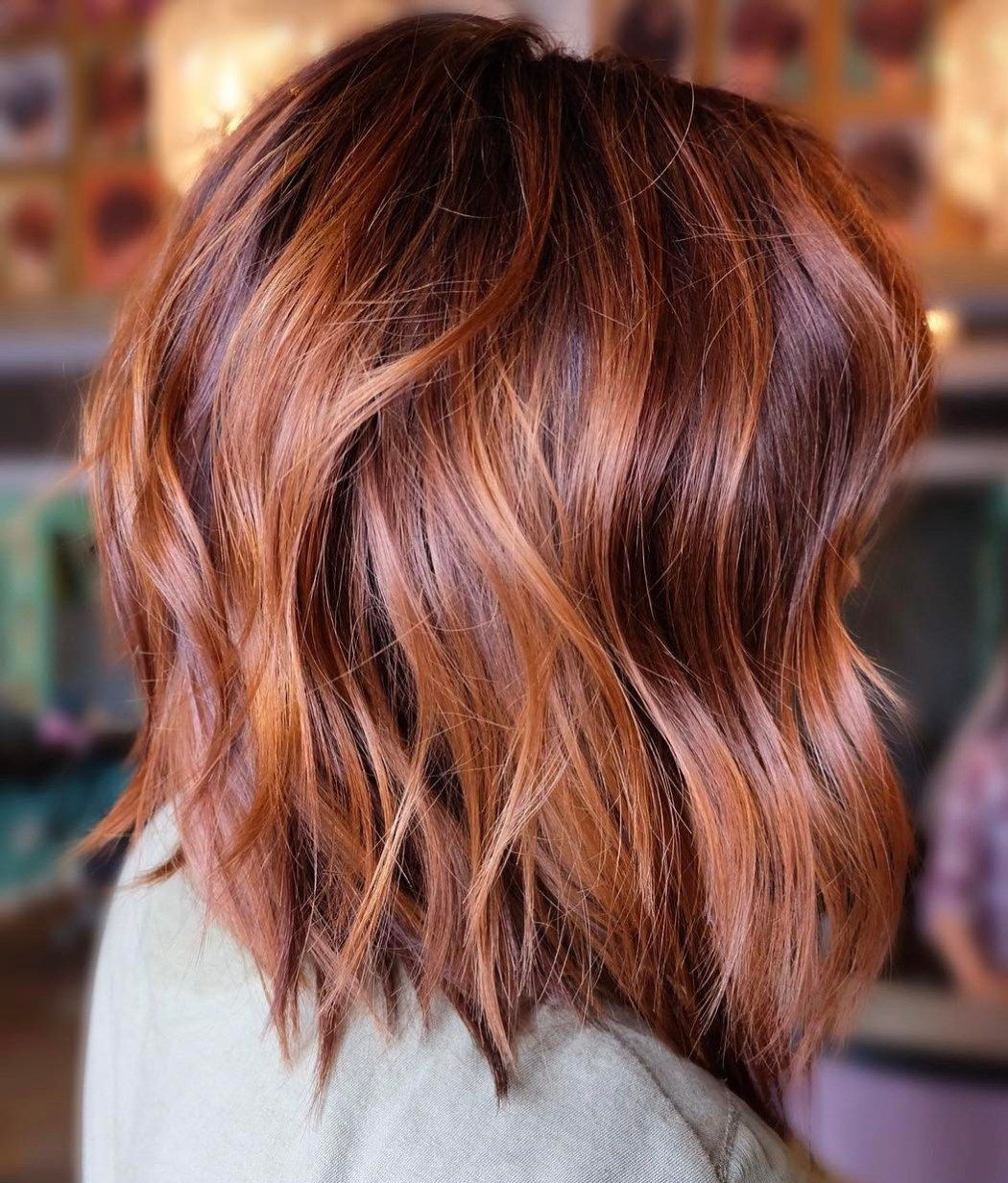 60 Inspiring Long Bob Hairstyles and Haircuts #copperbalayage