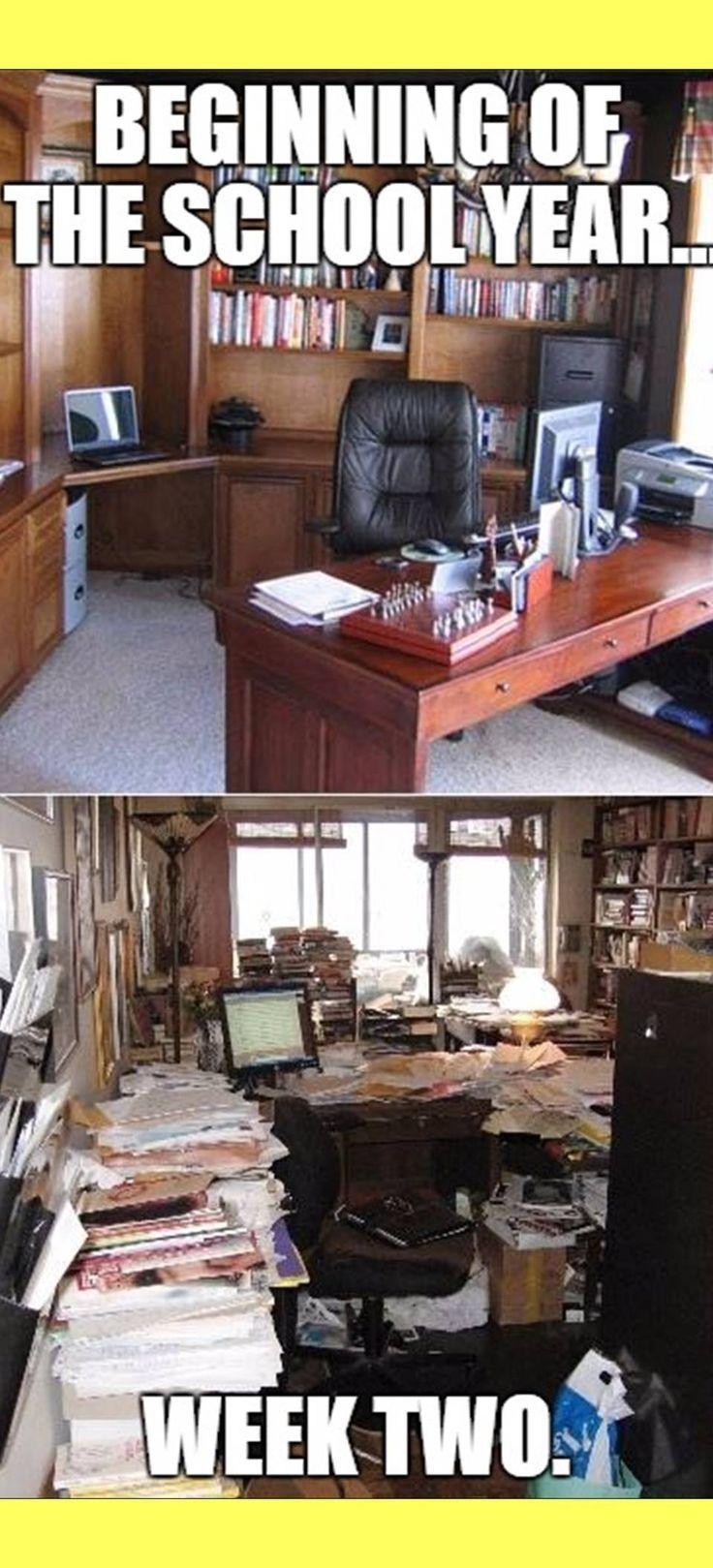 Herkenbaar voornemen: bureau netjes houden ...