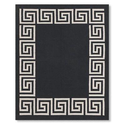 Best Greek Key Border Indoor Outdoor Rug Black Williamssonoma 400 x 300