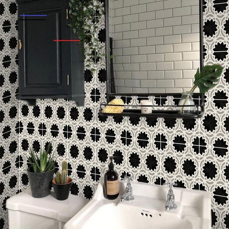 Kitchen And Bathroom Splashback Removable Vinyl Wallpaper Etsy Bathroom Splashback Vinyl Wallpaper Splashback
