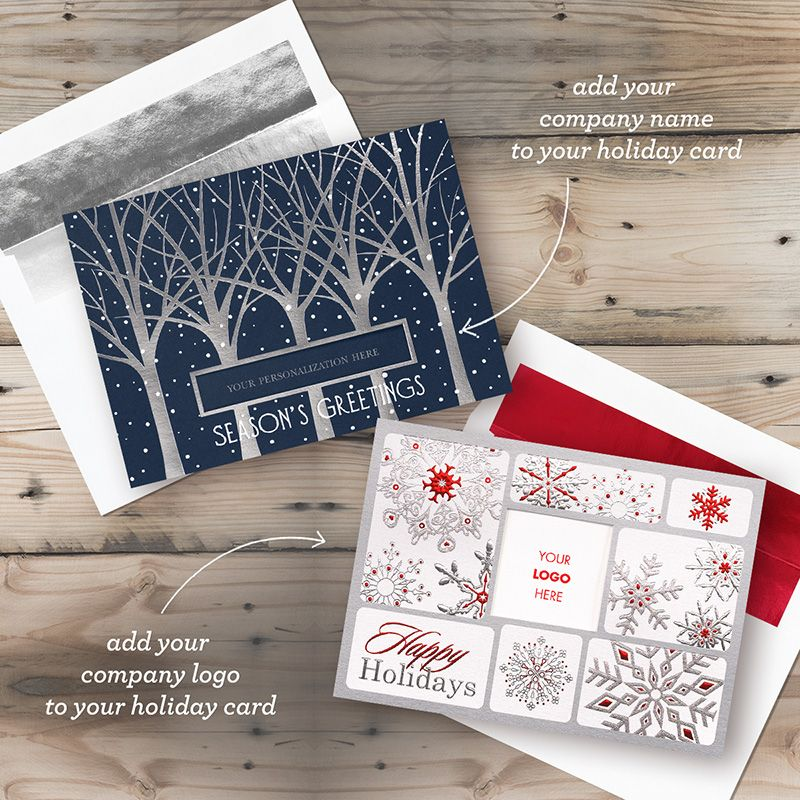 Die-cut and logo business holiday cards from My Life Greetings ...