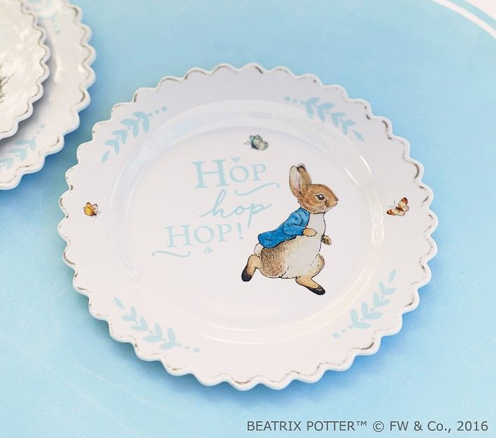 Easter Plate Bunny Plates Easter Kids Candy Easter Basket